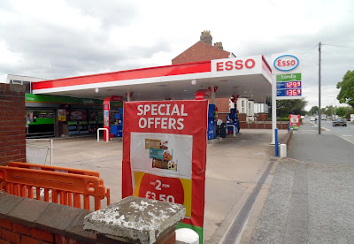 Brigg Service Station selling Esso petrol - June 2019