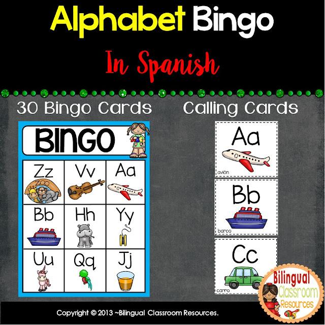 Alphabet Bingo In Spanish