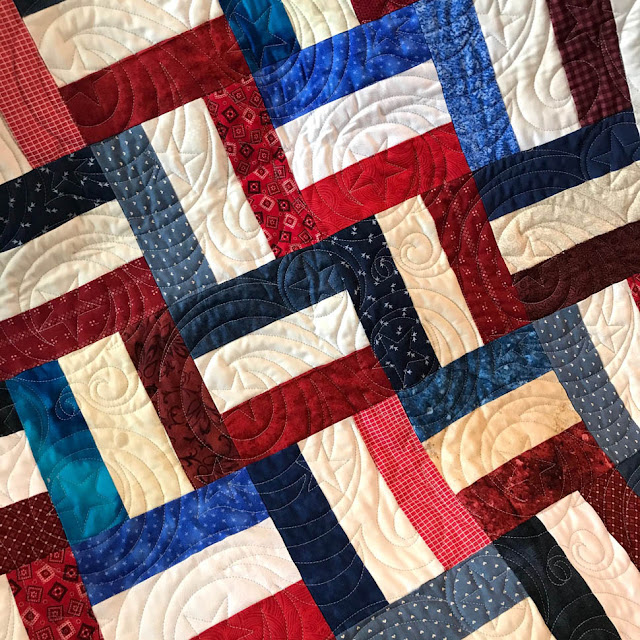 Rail Rence Quilts of Valor Quilt by Thistle Thicket Studio and others. www.thistlethicketstudio.com