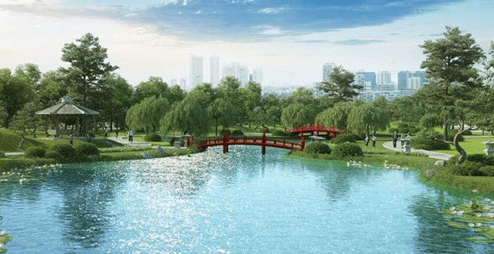 khong gian xanh vinhomes smart city