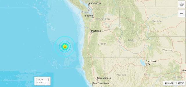 6.3 Magnitude Earthquake Strikes Off Oregon Coast