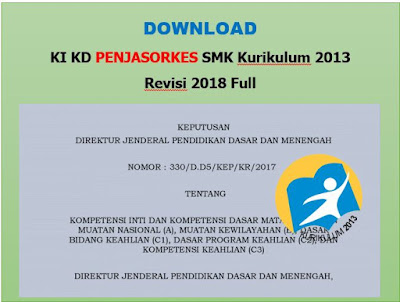 KI KD Penjasorkes SMK Kurikulum 2013 Revisi 2018