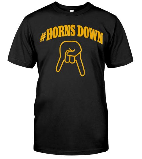 Horns Down West Virginia FOOTBALL T Shirt Hoodie Sweatshirt Shirts Sweater
