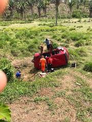 """Mulher sofre acidente na """"Curva da Velha"""" em Trizidela do Vale"""