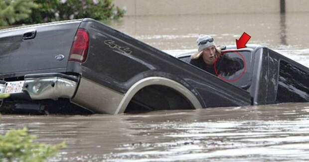«Я бы себе не простил!» Уходя в машине под воду, парень спасает сначала кота, а потом — себя!