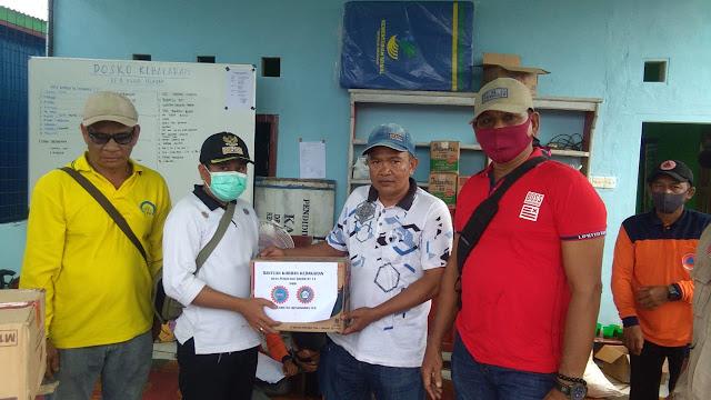 KSPSI Mendahara Ulu Beri Bantuan Sembako Kepada Korban Kebakaran