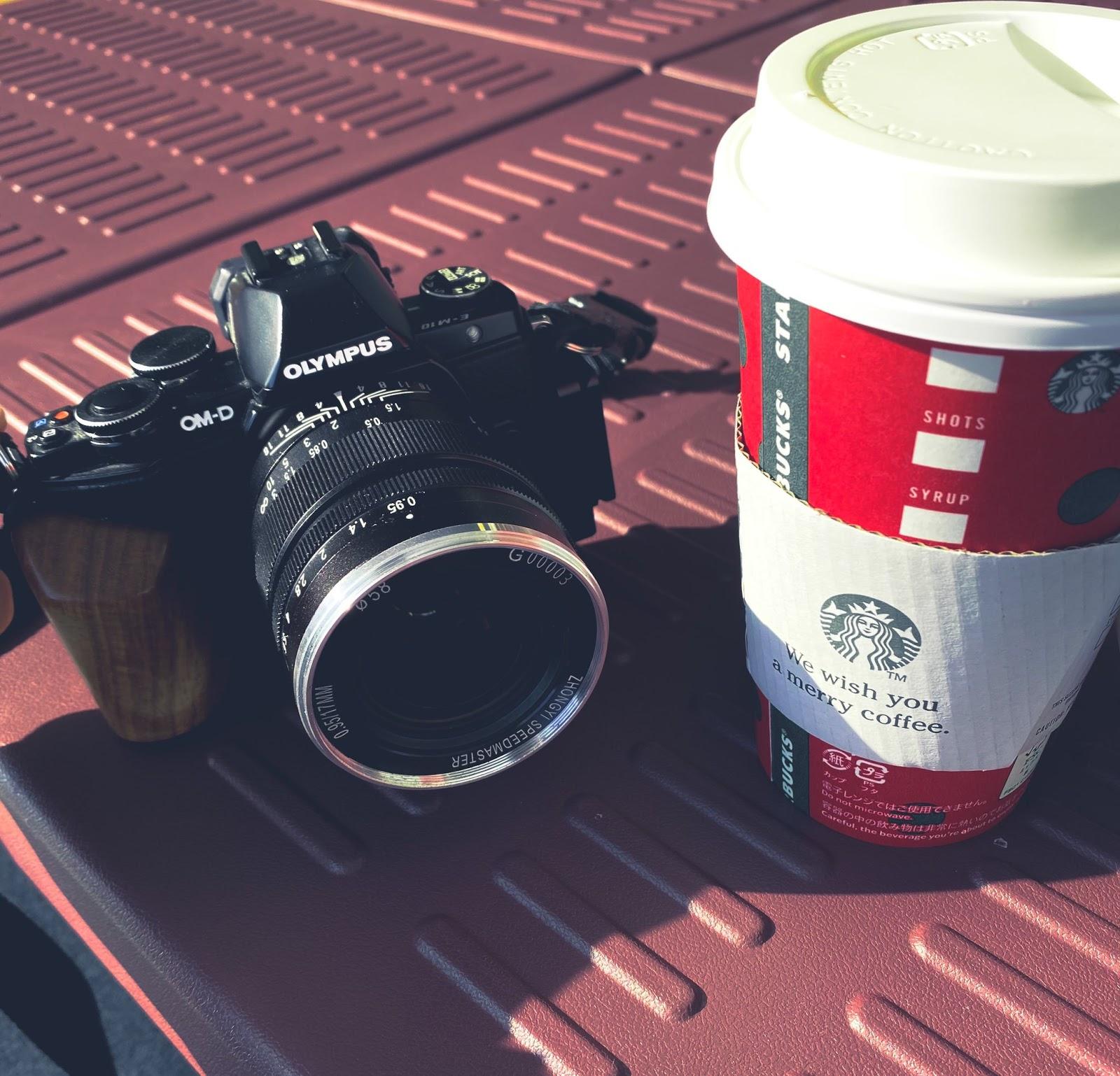 Объектив ZhongYi Speedmaster 17mm f/0.95 с камерой Olympus