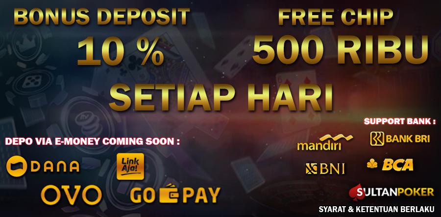 Sultanpoker,bonus deposit harian,Deposit Via Ovo,Deposit Via Gopay,Deposit Via Dana, Deposit Via Link Aja