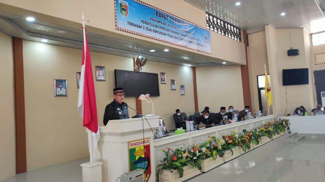 DPRD Menyetuji 2 Raperda dan Dihadiri Wakil Bupati Tanggamus Hi. AM. Syafi'i,