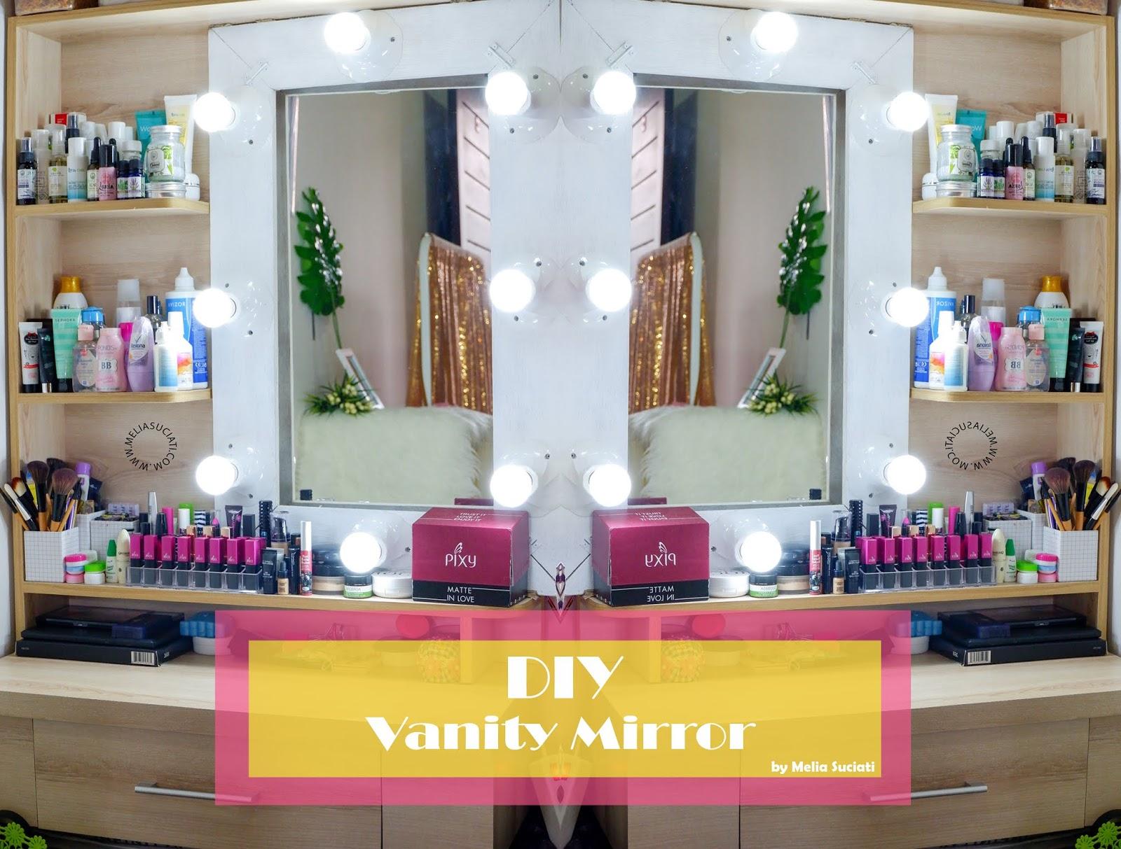 DIY Vanity Mirror Murah Meriah