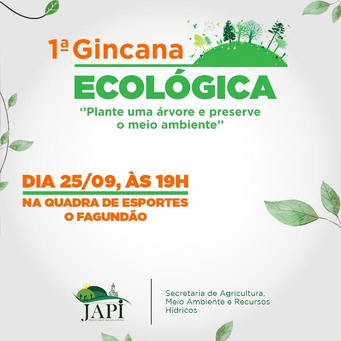 1ª Gincana Ecológica que será realizada em Japi