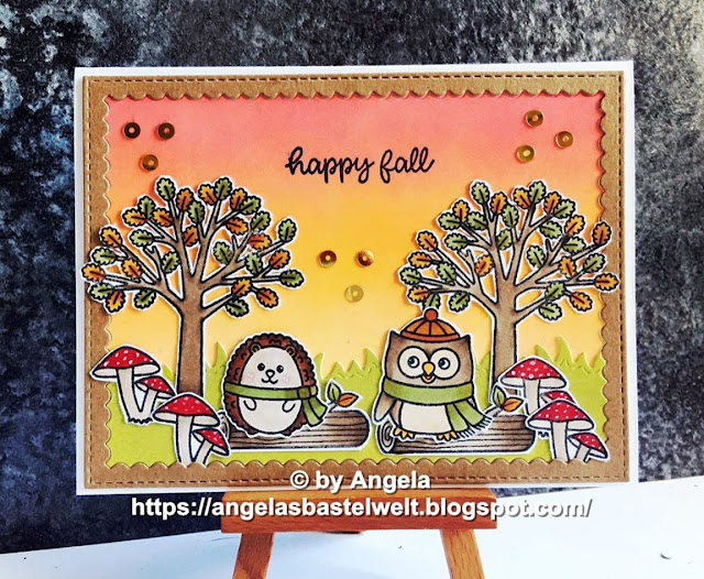 Sunny Studio Stamps: Woodsy Autumn Customer Fall Themed Card by Angela Pahl