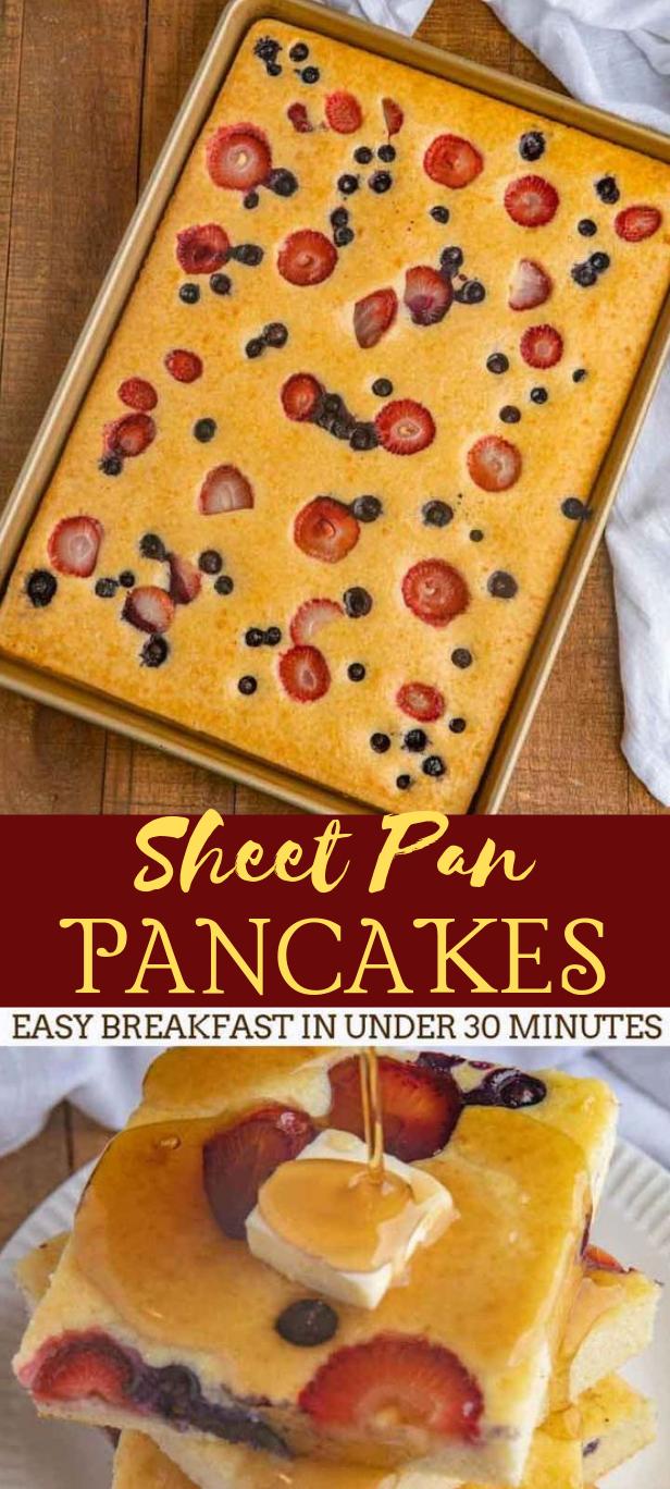 SHEET PAN PANCAKES #dessert #cake #pancakes #yummy #pie