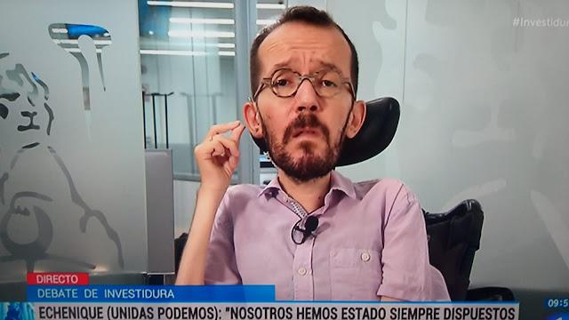 """Pablo Echenique: """"No queremos tener un papel decorativo en el Gobierno de España"""""""