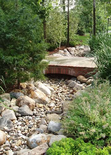 Dry creek bed ideas for pathways and garden interest