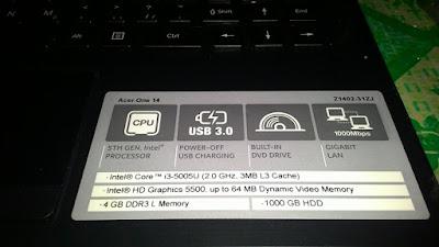 Acer One 14 Tipe Z1402-31ZJ