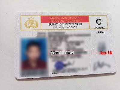 Letak Nomor SIM