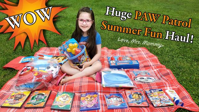 paw patrol youtube video, paw patrol toy haul, paw patrol summer fun, paw patrol unboxing video