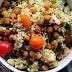 Taboulé aux olives et pois chiches aux épices