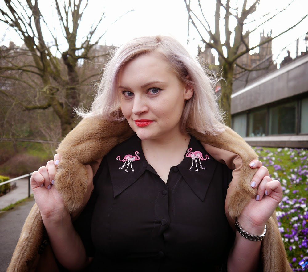 day one, Edinburgh Fashion Week, 2015, blogger, ootd, model, Coco Fennell, LKBennett, faux fur, the mound, This Is Edinburgh, Satisfashion, #EdFashionWeek, Scottish blogger, street style