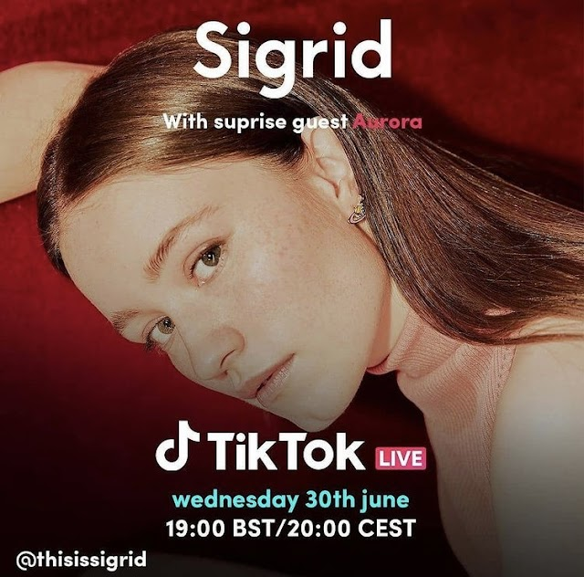 Sigrid é convidada surpresa para live de Aurora no Tiktok