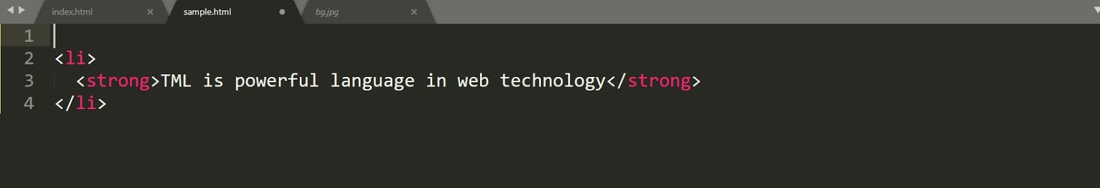 HTML Corrections