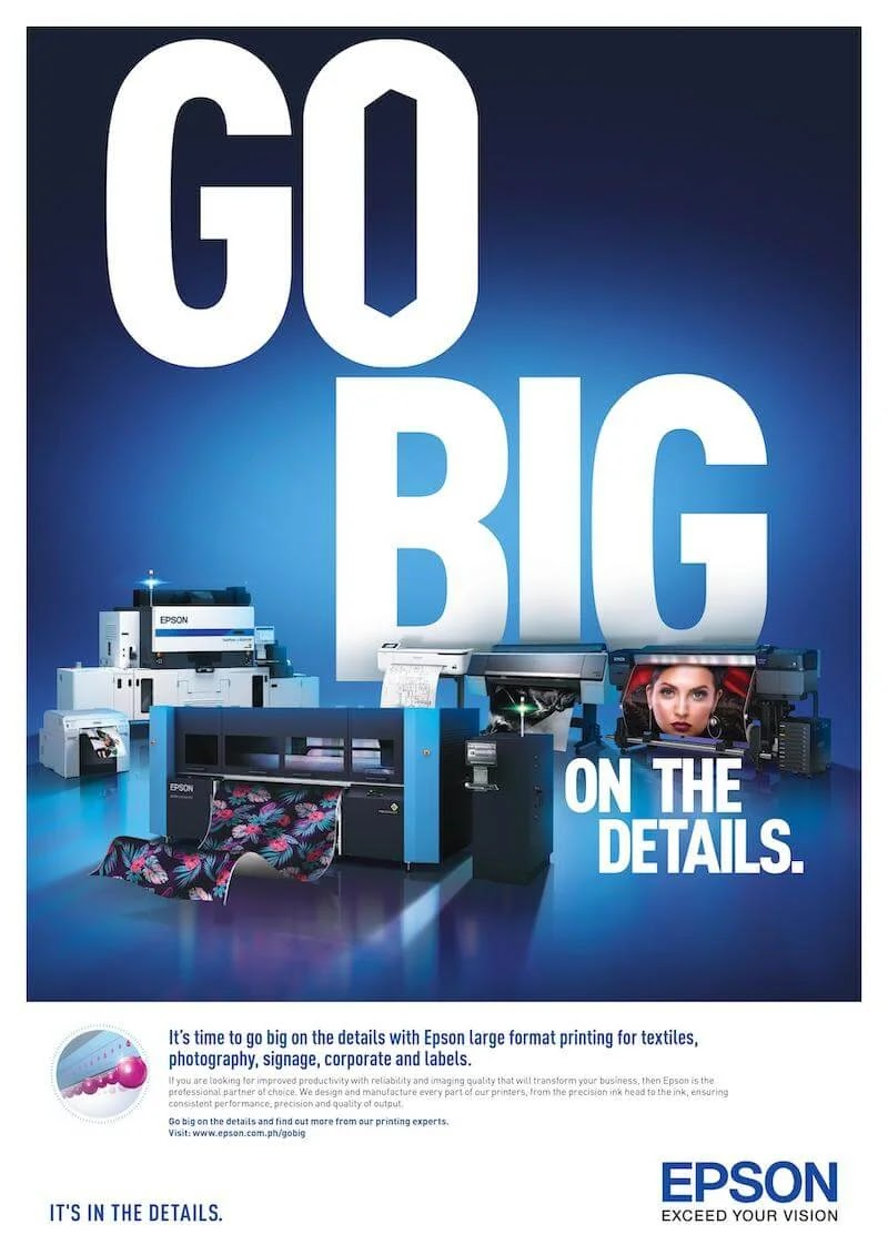 Epson Touts Faster High-Quality, Eco-Friendly Printing for Businesses in 'Go Big' Campaign