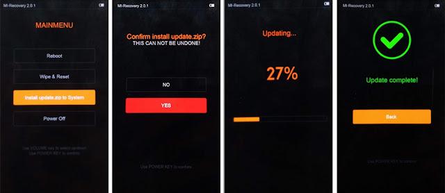 Cara Update ROM MIUI Xiaomi dari Recovery Update