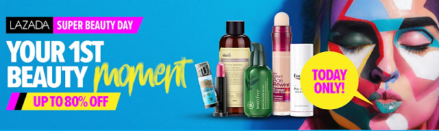 Lazada Super Beauty Day | Diskaun Sehingga 80%