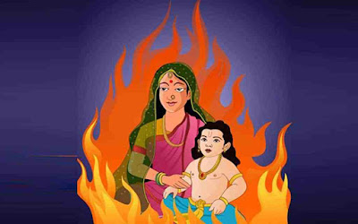 Images of Holika Dahan