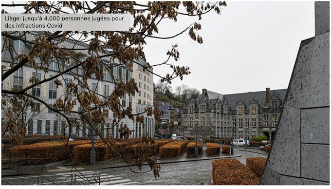 Liège: jusqu'à 4.000 personnes jugées pour des infractions Covid