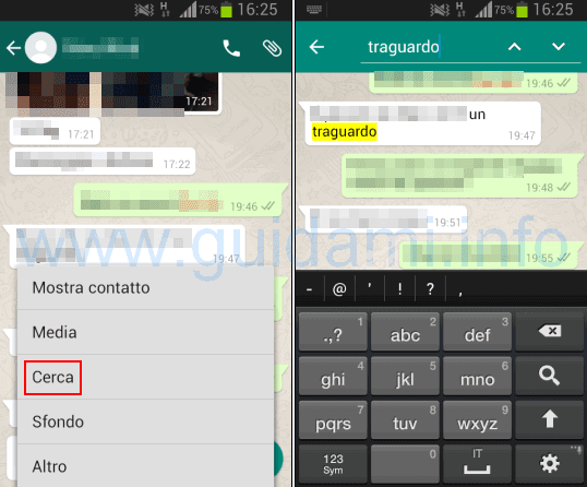 WhatsApp Conversations: How to search for words, photos or video chats