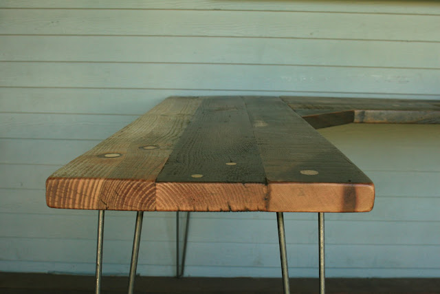 Reclaimed Wood Furniture: Corner Desk