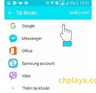 Hướng dẫn xóa tài khoản Ch Play trên máy smartphone Android a