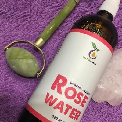 Agua de Rosas - Natura Pur - Rodillo de Jade