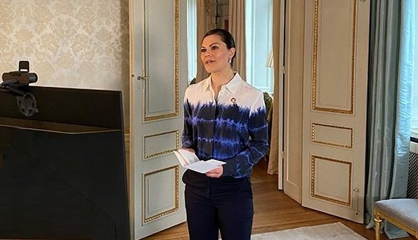 Crown Princess Victoria wore a Arlo Tie-Dye Top from Stella McCartney. Commission for the Conservation of Antarctic Marine Living Resources