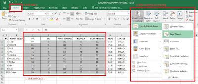 Cara Memberi Warna Secara Otomatis pada Kriteria Tertentu di Microsoft Excel