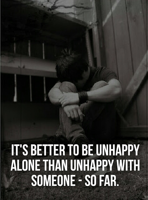 Always Live Your Life Happily and Being Alone has different feelings. So being alone and live Your Life Happily.