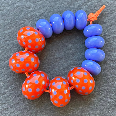 Handmade lampwork glass beads made with Creation is Messy Marmalade