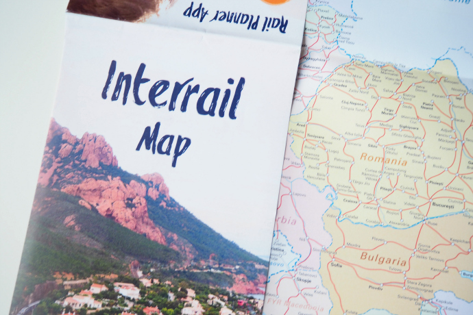 Interrail Pass map