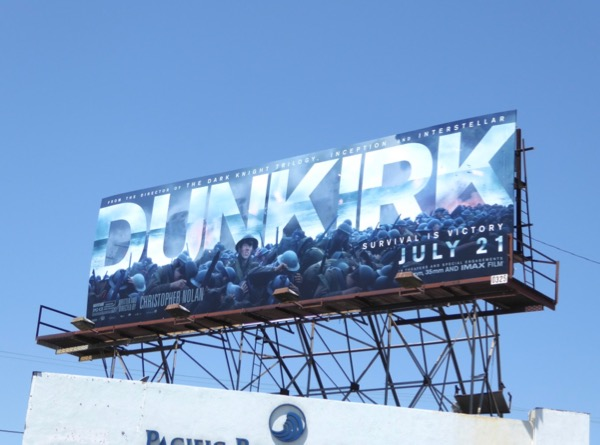 Dunkirk film billboard