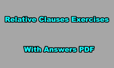 Relative Clauses Exercises with Answers PDF