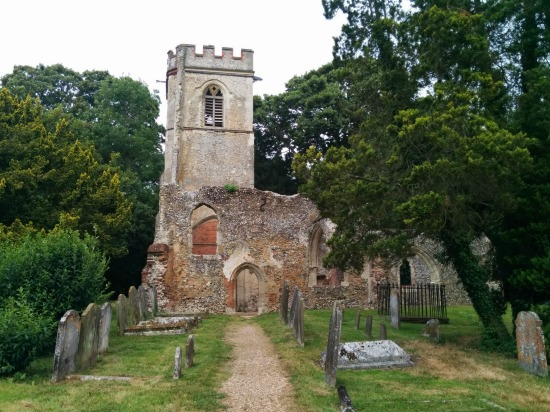 Photograph of the old church at Ayot St Lawrence part of Walk 49: Ayot Short Loop