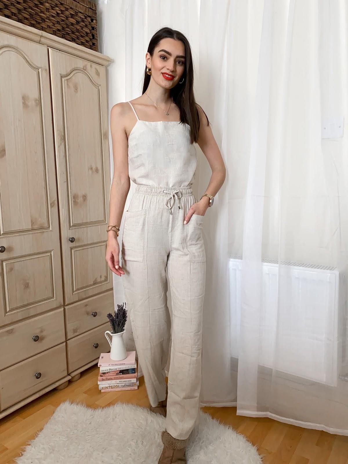 peexo linen loungewear neutrals