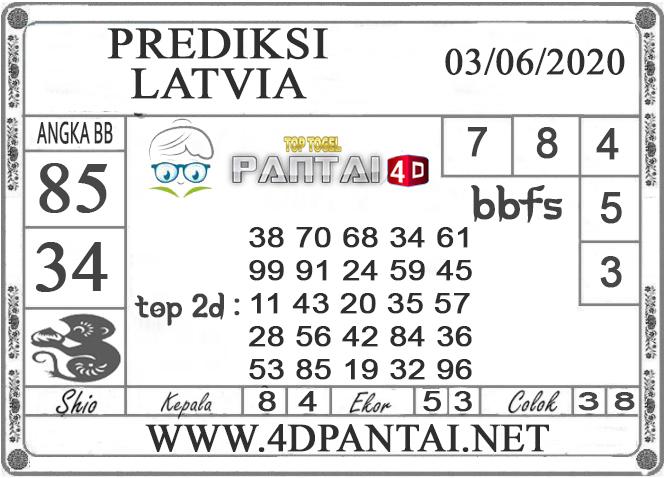 PREDIKSI TOGEL LATVIA PANTAI4D 03 JUNI 2020