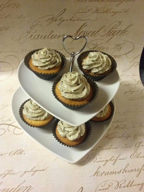 Cupcakes on a cupcake stand