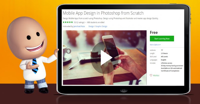 [100% Off] Mobile App Design in Photoshop from Scratch|Worth 0$