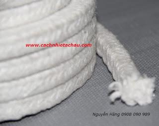 Dây sợi gốm Ceramic chịu nhiệt, chống cháy   Cách nhiệt Á Châu Ceramic%2BFiber%2BSquare%2BRope1