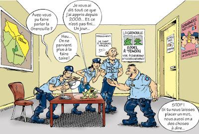 La Grenouille à la Gendarmerie de Cour-Cheverny