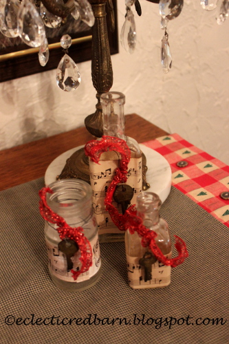 Eclectic Red Barn: Old bottles decorated